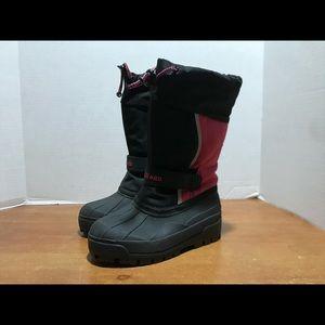 Kids L.L. BEAN WINTER WATERPROOF BOOTS BLACK/ PINK